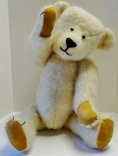 Vintage TEDDY Bear WHITE Polar ARTIST made OOAK Lola BECK 1982 Mohair 16in PLUSH