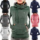 Damen Kapuzenpullover Sweatshirt Hoodie Kapuze Sweater Pulli Jumper Top Pullover