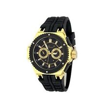 Black Gold Mens Watch Geneva Metal Oversized Designer Fashion Sport Wrist