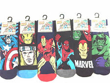 6 PAIR MENS MARVEL COMICS CARTOON ANKLE SOCKS HULK SPIDERMAN SUPERMAN SUPERHERO