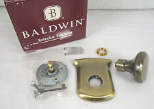 Baldwin Tahoe Half Dummy Knob Set Satin Brass & Black 5420-050-IDM 1280HW