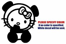 Hello Kitty Panda Bear Graphic Die Cut decal sticker Car Truck Boat Window 6""