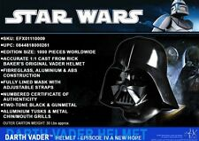 eFx STAR WARS IV:A New Hope DARTH VADER Limited Edition HELMET Replica, Base COA