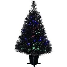 NEW Fiber Optic  BLACK HALLOWEEN CHRISTMAS Tree 32""