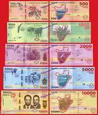 BURUNDI FULL SET 500 1000 2000 5000 10000 Francs 2015  Pick NEW SC / UNC