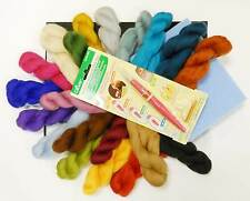 20 colour Needle Felting Kit with Clover Pen Tool