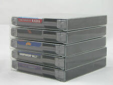 10 NES Cartridge Clear Box Protectors Sleeves Plastic works w/ dust covers