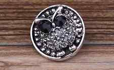 3D Rhinestone Drill Snaps Chunk Charm Button Fit For  Leather Bracelets W3