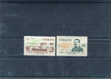 TURCHIA-TURKEY 1959 serie centenario del teatro turco 1421-22  MNH