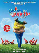 Affiche 120x160cm GNOMEO ET JULIETTE (2011) Kelly Asbury - Film d'animation NEUV