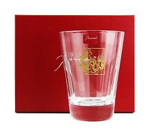 BACCARAT 2012 ZODIAC DRAGON TUMBLER CLEAR CRYSTAL GLASS MADE IN FRANCE NEW