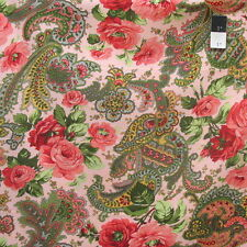 Verna Mosquera PWVM132 Indigo Rose Rose Paisley Carnation Cotton Fabric By Yd