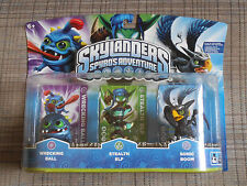 Skylanders 3 Packs: Wrecking Ball, Stealth Elf, Sonic Boom  ** Factory Sealed **