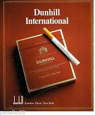 PUBLICITE ADVERTISING 116  1978  Dunhill International  cigarettes