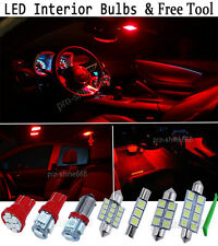 New Interior Car LED Bulbs Light SMD KIT Package Xenon Red For FORD FOCUS MK2