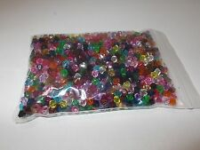 1200pcs 5mm Acrylic Faceted BICONE Beads - 15 Assorted / Mixed Colors ( 50g )