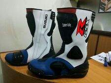 SUZUKI GSXR boots Motorbike Shoes Motorcycle Racing Leather Boots CustomMade