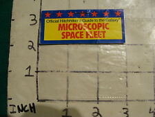 bag only from HITCHHICKER'S GUIDE TO GALAXY Microscopic space fleet