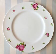 Royal Albert, New Country Roses, Set of 4 Dinne Plates, White Modern, New in Box