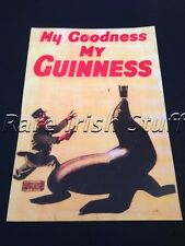 Guinness Gilroy Zookeeper & Seal My Goodness-1930s Vintage Irish Guinness Print