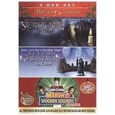 Holiday Classics:Scrooge/Beyond Christmas/March of -Wooden Soldiers 3 New Movies