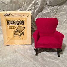 Vintage Shackman Upholstered High Back Chair for Doll House in Box