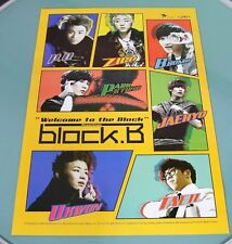 BLOCK .B - Welcome to the block /  OFFICIAL POSTER *HARD TUBE CASE* K-POP