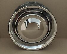 "Classic Stainless Steel Mini Hub Cap for 10"" Wheel."