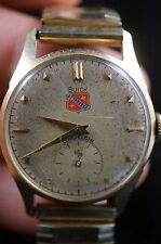 Lord Elgin 21 Jewel Mens Wristwatch 14K Gold Case, 25 yrs Buick Motor Division
