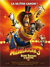 Affiche 120x160cm MADAGASCAR 3 Bons Baisers D'europe 2012 Darnell animation BE