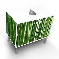 Design Waschbeckenunterschrank Schrank Waschtisch Unterschrank Bambus Design NEU