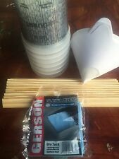Paint Refinishing Kit: Mixing Cups, Strainers, Paint Paddle Sticks, Tack Cloth