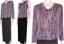 VINTAGE Ronnie Nicole GOWN Slinky MOTHER of BRIDE Formal POPOVER DRESS JACKET S