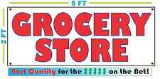 GROCERY STORE Banner Sign Vintage for Neighborhood Gas Station Convenience