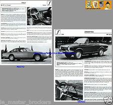FERRARI 365 GT 2+2 Coupé_FIAT 800 Spider_FICHE AUTO PRESSE Vintage