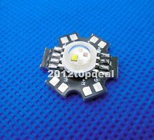 10pcs 4W RGBW High Power LED Light Bead Red Green Blue White Lamp +20mm star PCB