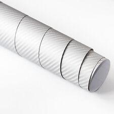 DIN A4 Wrapping Folie 3D Carbon Silber 21cm x 29,7cm Autofolie mit Luftkanälen