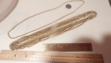 "9 VINTAGE 28"" GOLD PLATE LINK CHAINS  LOOK"