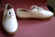 Clarks Originals Igloo Snow Leather Sneaker Shoe Low Pump Lace Up size 5.5d