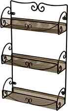 Spice Rack 3 Tier Wall Mounted Holder Storage Shelf Cabinet Organizer Kitchen