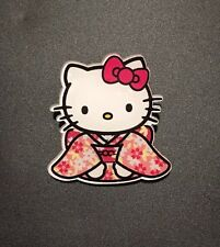 Funky Pink Japan Hello Kitty Kimono Dresss Traditional  Quirky Brooch Gift