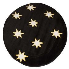 Negro Brillan En La Oscuridad Estrellas Redondo Alfombra