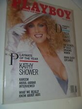 Linda Evans Kathy Shower PLAYBOY June 1986 in Plastic Magazine Sleeve
