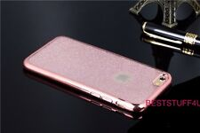 GLITTER BACK Fits IPhone  Soft Bling Shock Proof Silicone Case Plating Frame a10