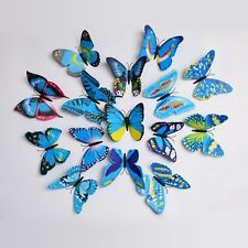 ADMI Removable 12 Pcs 3D Butterfly Wall Sticker For Home Decor - Blue