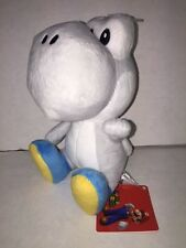 "Super Mario YOSHI WHITE 6"" Licensed Plush - Sanei/Little Buddy - New with Tags"