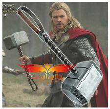 New Movie Props 1:1 Scale PVC Avengers Silver Thor hammer Toy for Cosplay