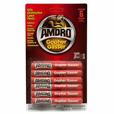 Gopher Ground Squirrel Gassers Smoke Bombs 6 Pk Rat Skunk Mole Woodchuck Gasser