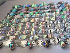 80 pcs x Sew On Mixed Size Acrylic Rhinestones Mixed Colour Mixed Shape