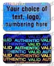 500x Large CUSTOM PRINTED Security Hologram Stickers,30mm x 20mm,Warranty Labels